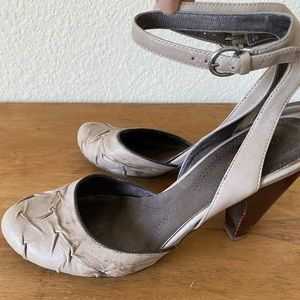 Shoes - Bivel leather ankle strap heels